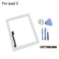 Wholesale for ipad Touch Screen Glass Digitizer Assembly for iPad with Homebutton M Adhesive Glue Sticker Replacement Black White
