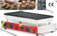 automatic baker machine - pc Stainless steel double head Automatic Poffertjes Grill Electric Dutch Mini Pancakes Poffertjes Machine Baker Maker