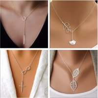 Wholesale 2016 Hot Selling New Design Silver Plated Inifity Fish Pendants Necklaces For Women Jewelry Accessories Cheap