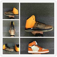 Wholesale 2016 New air retro XXXI Shattered Backboard RETRO OG HIGH orange Yellow s men basketball shoes sport sneakers size