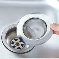 bathtub drain traps - Stainless Steel Bathtub Hair Catcher Stopper Shower Drain Hole Filter Trap Metal Sink Strainer
