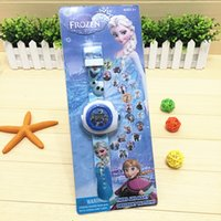 Wholesale Cartoon Frozen Car Sofia Princess Pony Spiderman Projection Table Wristwatch Different Projection Pattern Children s Gifts