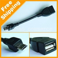 Wholesale Micro PIN USB Male to USB Female OTG Adapter Cable for Phone Tablet Android Samsung HuaWei XiaomI Data Sync Charger