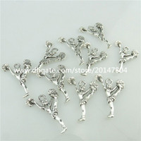 Wholesale 18901 Vintage Silver Alloy Cheerleading Cheerleaders Pendant Cheer Sport