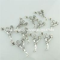 Wholesale 18901 Vintage Silver Alloy Cheerleading Cheerleaders Pendant Cheer Sport
