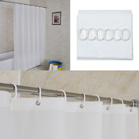 bath liners - New Arrvial White Waterproof Fabric Shower Curtain Liner Bath Bathroom Home With Hooks Excellent Quality