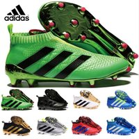 Wholesale Adidas ACE Purecontrol FG Primeknit Men s Soccer Shoes Boots Slip On Cheap Original Performance Ace Cleats Football Sneakers
