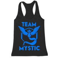 Wholesale Poke go team mens tank tops team camps valor mystic instinct boys vest T shirt sports top summer sleeveless colors holiday gifts new