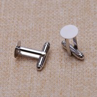 Wholesale Circular clothing cufflinks cuff links metal accessories silver mm mm mm mm mm