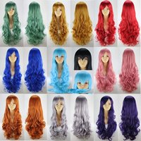 Wholesale Blonde mix quot Stylish Full Long Straight synthetic wigs women s hair wigs party COSPLAY wig