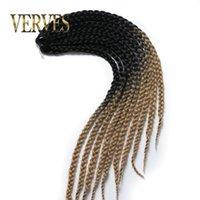 Wholesale ombre braiding hair Box Braids Hair g piece S Freetress Crochet Box Braid Synthetic Senegalese Twist Braid Hair Extensions