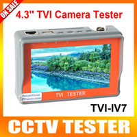 analog video cables - New CCTV P P TVI Camera Tester inch LCD Analog Video Test V V Power Output Cable TVI Cctv Tester