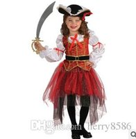 Cheap Halloween costumes cosplay Christmas pirate fantasy girls party cosplay costume for children kids clothes 2015 hot sale free shipping