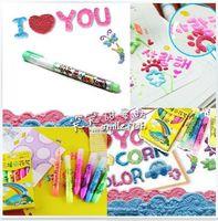 Wholesale Popular in South Korea DIY creative toys magical Popcorn pen Bubble pen Children painting gift color suits