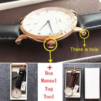 alloy tool boxes - Waterproof Daniel Wellington Watch Calendar Mens Watches Top Brand Luxury Military Watch mm Men DW Watch relogio masculino Box Manual Tool