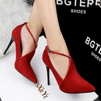 Wholesale Fashion Pointed Toe High Heel Shoes Simple Style Bare Boots Stiletto Heel Shoes Women Shoes Autumn New
