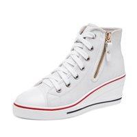 Las ZAPAS formales de la manera de los PP forman los zapatos occidentales del estilo del talón Las zapatillas de deporte ocasionales de la lona de la plataforma superior de las mujeres
