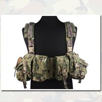 Wholesale Tactical Vest EMERSON LBT A R Chest Rig AOR2 Multicam Black Modern Warrior Tactical Vest with Holster and Pouches