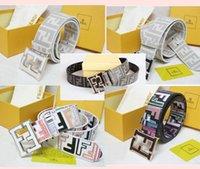Wholesale 2016 hot designer luxury belt with box male high quality real eath ff belt woman man GG belt buckle belt