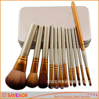 Cheap N3 Professional 12 PCS Cosmetic Facial Make up Brush Tools Makeup Brushes Set Kit With Retail Box