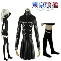 Wholesale Anime Tokyo Ghouls Female Fight Uniform with Socks Cosplay Costume Daily Costume Kaneki Ken
