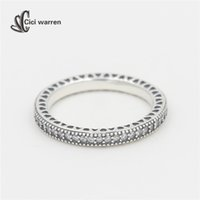 Wholesale Ring Heart NEW Rings for women clear with CZ sterling silver jewelry Gift Silver Jewelry Anillos fine jewelry RI042