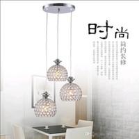 art deco homes - Chrome Crystal Pendant Lamps Hanging Lamp Head LED Pendant Light For Home Art Deco Bedroom Restaurant Living Room