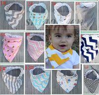 Wholesale Kid Ins Bibs Bandana Baby Burp Cloths Cotton Towels Bandana Bibs Infant Saliva Towels Triangle Head Scarf Handmade Waterproof Bibs A1083