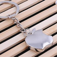 apple pillar - 60pcs Fashion Trinkets Keychain Titanium Plated Metal Key Chain Apple Key Chains The Best Gift Choice