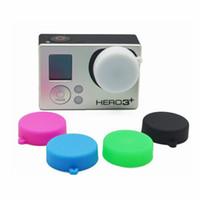 Caso de la cubierta del casquillo de lente de silicona protectora para mayor-GoPro héroe de la cámara 4 3 3 + acción de los deportes