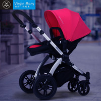 Wholesale Luxurious bidirectional four wheel baby stroller pushchair large