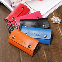Wholesale Genuine Leather Key Wallets Cowhide Women Men Keychain Holders Bag Purse Case Car Housekeeper Keys Organizer ger for Key