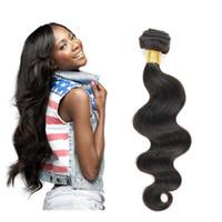 Wholesale Allybeauty Tissage Brazilian Body Wave Hair Bundle inch Natural Black Cheap Unprocessed Human Hair Weave Bundles Brazilian body wave