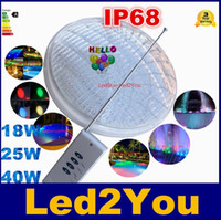 Wholesale Hot Sale RGB Led Pool Light Bulb AC V Underwater Lights Fountains Led W W W Waterproof IP68 Led Pool Light Remote Control