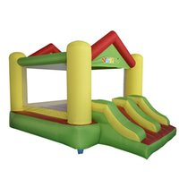 Wholesale Inflatable Bouncer House With Slide Jumping Castle For Kids D polyester coated PVC and PVC tarpaulin bouncing