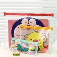 bag information - New Cartoon Zipper Bags Paper Transparent Information Paper Clip Korea Stationery Office Supplies H0367