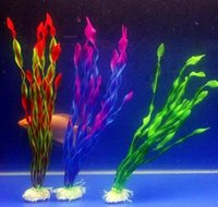 Wholesale 36CM Aquarium Decorative Water Plant Fish Tank Landscaping Plant Plastic Simulation Fake Plants