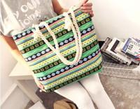bamboo thread cloth - Big Shopping Bag Totes Cloth bag fashion handbag female bag canvas bag shoulder bag hand bag large capacity contracted joker handbag