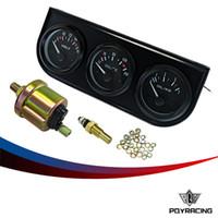 Precio de Pressure sensor-PQY RACING-52mm Kit triple eléctrico (voltímetro + indicador de la temperatura del aceite + calibrador de presión de aceite) Sensor de la temperatura del coche Auto indicador PQY-TAG01