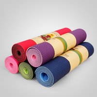 Wholesale TPE Yoga mats fitness Three parts environmental tasteless Non Slip colchonete fitness yoga gym exercise mats Durable mm thick cm