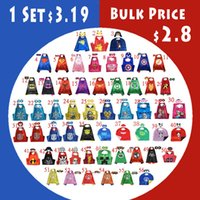autumn party supplies - 87 Styles Kids Superhero capes Double sides Satin Fabric super hero cape mask party supplies for birthday party cosplay cm