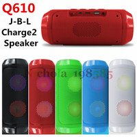 Wholesale Q610 Copy J B L CHarge II Wireless Bluetooth Mini Speaker Subwoofer Portable Sports Hi Fi Pluse Light Flash TF USB Card FM Music Speakers