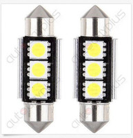 acura plates - 100PCS mm CANBUS Error Free LED SMD C5W License Plate Dome Light Bulb price