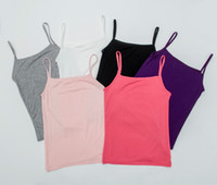 Wholesale Women Summer Elastic Cotton Slim Sleeveless Spaghetti Strap Vest Tops Casual Camisole Base T Shirt Top Roupas Femininas