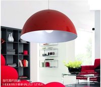 aluminum hemispheres - Dia40cm Modern Aluminum Hemisphere Pendant Lights Brief Black White Red lamp Dinning Room Pendant Light red white hanging lamps