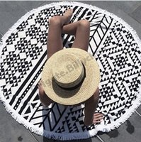 Wholesale Tassel Beach Towel New Round beach towel cm Bohemia Tassel Knitted beach towel blanket Cotton Beach towels Styles D389