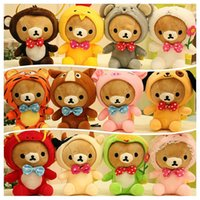 Wholesale 12style set plush toys cm kawaii Rilakkuma soft stuffd toys bearplush toy factory supply freeshipping