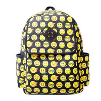 Wholesale 2015 New Fashion Backpack Girl Women s Men s Emoji Canvas Travel Backpack School Rucksack Bag Hot Sell