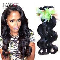 brazilian virgin hair - Unprocessed Brazilian Body Wave Virgin Human Hair Weave Bundles A Peruvian Malaysian Indian Cambodian Mongolian Hair Extensions Double Weft