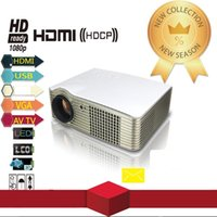 Wholesale New Full HD P Projector Portable Lumens Contrast Ratio HDMI VGA USB for Home Theater Projector